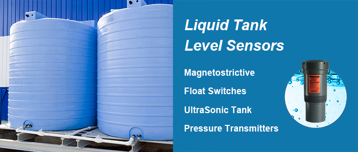BinMaster magnetostrictive, float switches, ultrasonic sensors, and pressure sensors for liquid tank level measurement