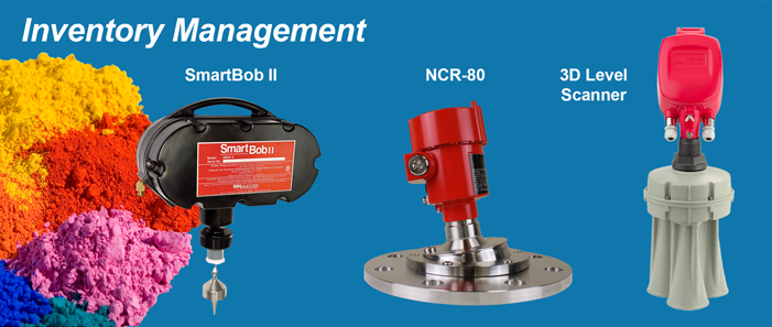 BinMaster SmartBob, NCR-80  non-contact radar, and 3D level sensors for Inventory management
