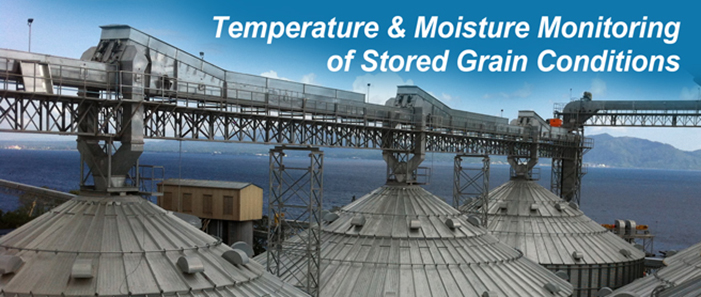 BinMaster sensors for temperature and moisture monitoring of stored grain conditions